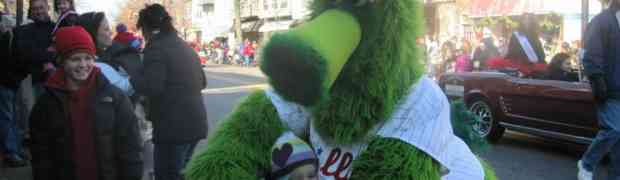 Sasha and the Phillie Phanatic