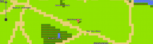 List of Interesting Places in 8-Bit Google Maps