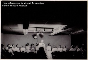 Helen Garvey Performing at Assumption School Minstral