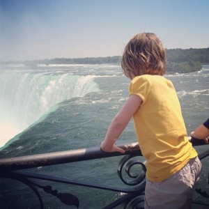 Sasha looking out over Niagara Falls